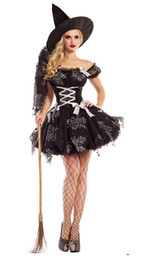 Barato Trajes De Carnaval Feminino-Kimring Sexy Witch Halloween Costume Adult Womens Magic Moment Costume Mal Witch Victorian Halloween Carnival Fancy Dress