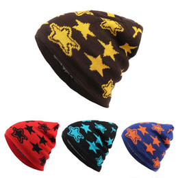 $enCountryForm.capitalKeyWord NZ - Hot sale New Winter five-pointed star Caps Knitted Beanie Poms Hip Hop Skull Fashion Ski Hat