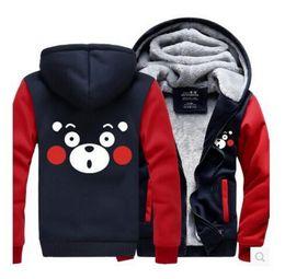 Korean Men S Jacket Canada - Wholesale Kumamoto Bears Cute Love Clothes Jackets Peripherals Hoodies Men and women loose students Korean version of the tide