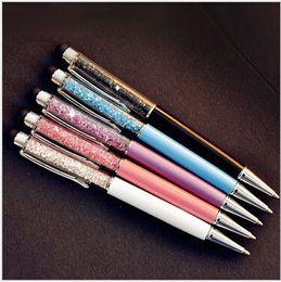 Metal Ballpen UK - Crystal metal Diamond ballpoint pens Stationery papelaria ballpen caneta Office material escolar school supplies