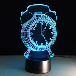 Ball clocks online shopping - 2016 Clock D Optical Illusion Lamp Night Light DC V USB Charging AA Battery Dropshipping Retail Box