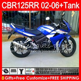 $enCountryForm.capitalKeyWord Australia - 23Colors Body +Tank For HONDA CBR125 R TOP Blue black CBR 125R 125RR CBR125R 02 03 04 05 06 80NO51 CBR125RR 2002 2003 2004 2005 2006 Fairing