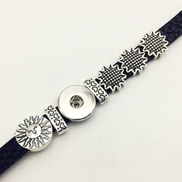 ImItatIon sunflowers online shopping - Fashion Sale Bracelets For Sterling Jewelry One Direction Sunflower Retro Leather Snap Button Bracelet Bt119 fit mm mm Snaps party dre