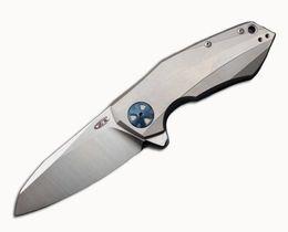 Custom flippers online shopping - Custom Zero Tolerance ZT0456 Flipper Knife Bearing D2 Blade Titanium Handle Pocket Hunting Fruit Knife EDC Camping Tools F633E