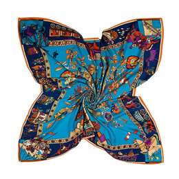 $enCountryForm.capitalKeyWord NZ - Silk Printing Scarf Kerchief fashion Scarves women ladies top grade muffler long Chiffon tree of life Bandanna Wrap Shawl