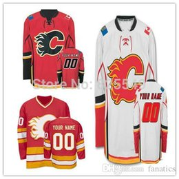 be3c42ebe 2016 Cheap Custom Calgary Flames Jerseys Personalized Any Name Any Number  Stitched Ice Hockey Jerseys Size S-4XL Free shipping