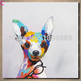 cheap abstract art paintings Australia - Free shipping 1 piece canvas wall art painting for bedroom wall decor cheap price pop art dog images modern dog painting