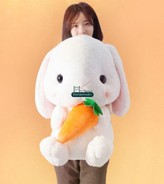 Giant Rabbit Canada - Dorimytrader 30''   75cm Giant Rabbit Toy Stuffed Soft Plush Lovely Cartoon Bunny Doll 2 Models Nice Gift Free Shipping DY60478