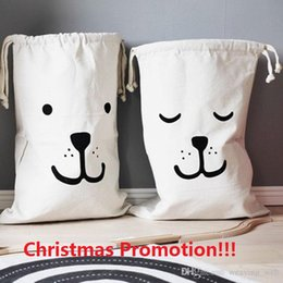 Baby S Beds NZ - Christmas Promotion!!! Ins Hot Canvas Storage bags Cute Animal Face Batman Storage Bags for Clothing Baby Kids Maternity
