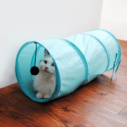 pet house beds 2018 - Pet Cat Dog Toy Beds Activity Center Playing Tent Toys Fun House with Ball discount pet house beds