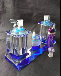 Crystal Vaporizer Canada - Double with crystal snuff --glass hookah smoking pipe Glass gongs - oil rigs glass bongs glass hookah smoking pipe - vap- vaporizer