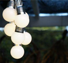 Ball Yard Canada - Solar Powered Led String Light 3M 10Leds G50 Bulbs Waterproof Globe Led Ball String Lights Fence Patio Yard Garden White Warm White Light