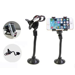 Wholesale UPDATE VERSION Car Mount Long Arm Universal Windshield Dashboard Cell Phone Car Holder with Strong Suction Cup and X Clamp for iPhone s
