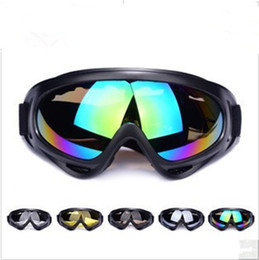 Girls Ski Goggles Canada - Free DHL Fedex Shipping X400 100%UVA UVB POLYCARBONATE Men & Women's Outdoor Cycling Eyewear CS Motorcycle Wind Glasses Ski Goggles