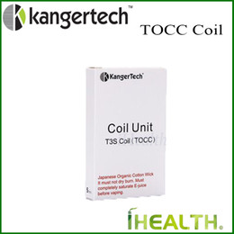 kanger t3s clearomizer NZ - Kanger TOCC Coil Head for T3S MT3S Clearomizer Japanese Organic Cotton wick 100% Original T3S OCC Replacement Coil Head