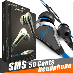 audio street mic Australia - Fashionable SMS Audio 50 cent In-Ear headphones Mini 50 cent with mic and mute button earphone STREET by 50 Cent earbud 3 colors MQ100