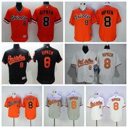 df29efe77 ... Hot Sale 8 Cal Ripken Jersey 1989 Cooperstown Baltimore Orioles Cal  Ripken Baseball Jerseys Throwback Cream Mens ...