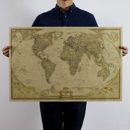 Vintage world map poster canada best selling vintage world map vintage retro matte kraft paper world map antique poster wall sticker paper home decora decals for walls gumiabroncs Image collections