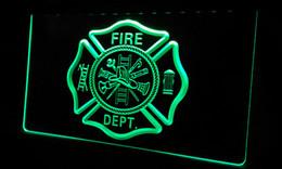 Motion fire online shopping - LS355 g Fire Dept Helmet AXE Ladder Neon Light Sign