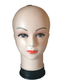 China Top quality Women's Mannequin Head Hat Display Wig Torso PVC training head model head model femal head model supplier pvc hats suppliers