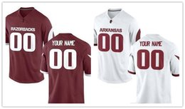 210c9d944 Mens Arkansas Razorbacks Custom College Football Limited Jerseys #5 #8 #72 # 83 Red White Stitched Personalized Any Name Number Jerseys S-3XL ...