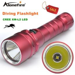 flashing lights 2018 - Alonefire DV19 1800Lumen 10W XML L2 LED Diving Flashlight 50-80M Underwater Lamp Waterproof LED Torch Flash Light Diver