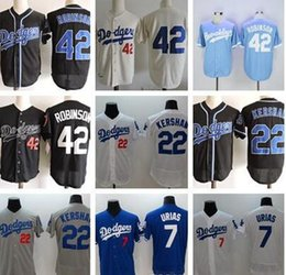 833e5cb16 ... 22 clayton kershaw 42 jackie robinson baseball jersey; mens l.a. los angeles  dodgers jackie robinson white blue gray flexbase jersey l.a. 42 jackie