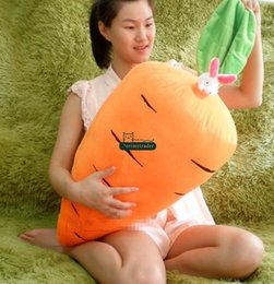Discount giant soft toy rabbit Dorimytrader 35''   90cm Giant Plush Cartoon Carrot Pillow Stuffed Soft Rabbit Carrot Toy Nice Baby Gift Free