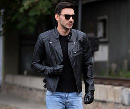 Wholesale Fall black Biochemical crisis leather motorcycle jacket embroidered skull Harley boy leather jacket real leather coat S XL new