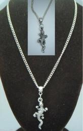 $enCountryForm.capitalKeyWord Canada - Vintage Silver Lizard Reptile Charms Choker Collar Necklaces&Pendants For Women Gift DIY Jewelry Accessories Souvenir Hot Sale NEW Q20
