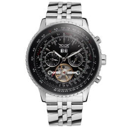 China Automatic Mechanical Watches luxury men automatic TOURBILLON stainless watch mechanical sport mens watches JARAGAR Watches Wholesale cheap jaragar black automatic watch suppliers