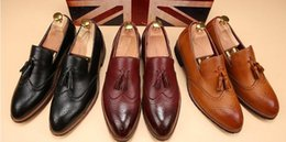 Famous male shoes online shopping - Men s pointed toe dress shoes famous loafer male gents formal wear ballet flats zapatos hombre oxford shoes hx26