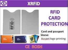 Discount rfid cards - 89*58(mm)RFID Blocking SLEEVE RFID CARD SLEEVE Anti Theft Credit Card Protector Aluminum Safety Sleeve Shield-1000pcs Fr