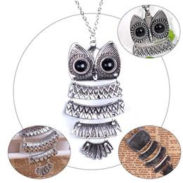 $enCountryForm.capitalKeyWord Canada - New Lady Women Vintage Silver Owl Pendant Necklace best Gift For XMAS H210943