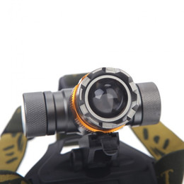 Headlight Focusing Canada - Wholesale-CREE XM-L T6 2000 Lumens 3 Modes Waterproof Adjust Zoomable Focus Led Headlight Hunting Spotlight Head Lamp Colorful Bike Light