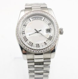 Chinese  7 styles 36mm ladies diamonds watches siliver automatic self winding women watch sapphire glass wristwatches manufacturers