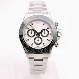 China AAA 2017 new luxury brand watches men white dial cosmograph 116500 ceramic bezel stainless band watch automatic watch mens dress watches suppliers