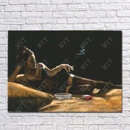 hand painted pictures Australia - Decor Pictures Hand made Sexy Women Oil Painting Bedroom Wall Decor Modern Painting on Canvas Beautiful Art No Framed