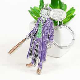 Batman Figure Wholesale Canada - Movie Batman Joker Keychain can Drop-shipping Metal Key Rings For Gift Chaveiro Key chain Jewelry for cars YS10921
