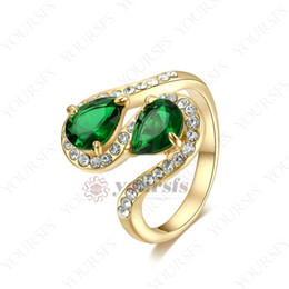 $enCountryForm.capitalKeyWord Canada - Yoursfs 18 K Rose Gold Plated Cobra Emerald and Rose Red Green Austrian Crystal Pendant Rings For Women Fashion Jewelry Size 6 7 8 9