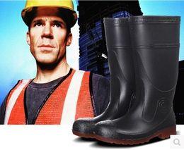 Опт Высокие ботинки дождя. Голова стальные сапоги. Анти-разбив. Баотоу стали. Нескользящий. Водонепроницаемый. Ботинки воды безопасности. Защитная обувь.Стальная резиновая подошва.