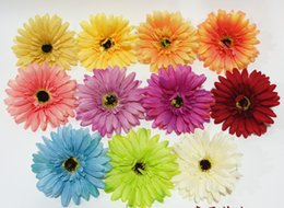 China Silk gerbera daisy flower head Fashion Artificial chrysanthemum with Factory Price Handmade colorful Popular Mini Sunflower Head supplier gerbera flowers wholesale suppliers