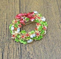 Rhinestone leaf bRooch online shopping - Fashion Gold Plated Rhinestone Crystal Leaf Flower Bow Bowknot Wreath Brooch Pin Xmas Christmas Gift