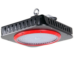 China High power 240W warehouse lighting square UFO led high bay lights OSRAM LED Chip 100-110lm W With Meanwell LED Driver supplier osram chips suppliers