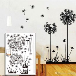 Discount Dandelion Wall Decals  Dandelion Vinyl Wall Decals - Vinyl wall decals removable