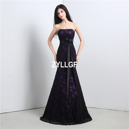 Barato Padrão Para Vestido De Festa Curto-Hot Sales Purple Pattern Black Lace up Voltar Novo Short Prom Dress Back Ball Gown Strapless Prom Party Gown Custom Made