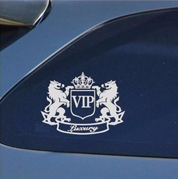 Vip Stickers Canada - Delicate Waterproof Black White VIP The Lion Funny Reflective Cartoon DIY Car Sticker Car Styling JDM Window Sticker Vinyl Decal order<$18no