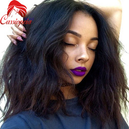 $enCountryForm.capitalKeyWord NZ - Short Loose Wavy Lace Wigs For African American Glueless Peruvian Virgin Human Hair Full Lace Bob Wigs Wavy Lace Front Wigs Large Stock