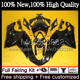 Discount fairings ducati 1098 Body For DUCATI 848 1098 1198 07 08 09 10 11 848R 1098R Gloss black 14PG20 848S S R 1098S 1198S 2007 2008 2009 2010 2011 Fairing Bodywork
