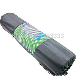 Fast Backpack Canada - Fast Free shipping 100pcs nylon yoga bag yoga mat bag carrier mesh center yoga backpack Black Color